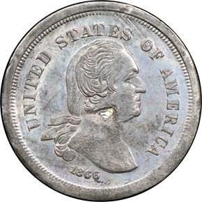 1866 J-526 5C PF reverse