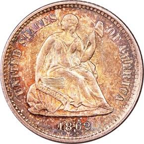 1862 H10C MS obverse