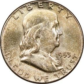 1953 50C MS obverse