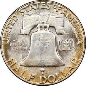 1953 50C MS reverse