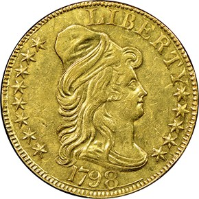 1798 LARGE EAGLE $5 MS obverse
