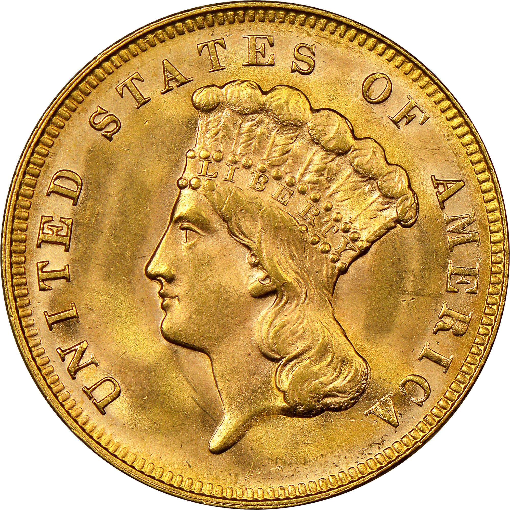 1878 $3 MS obverse ...