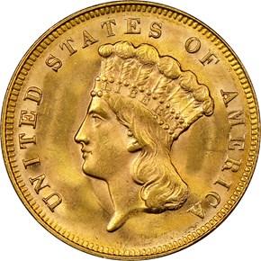 1878 $3 MS obverse