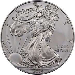 2014 EAGLE S$1 MS obverse