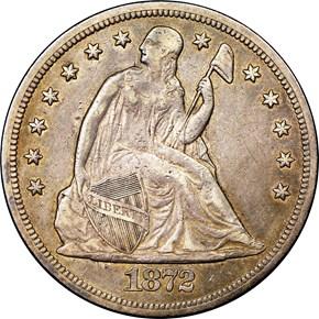 1872 CC $1 MS obverse