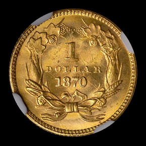 1870 G$1 MS reverse