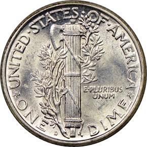 1926 D 10C MS reverse