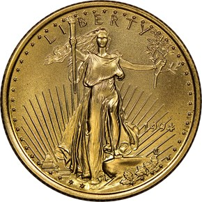 1994 EAGLE G$10 MS obverse
