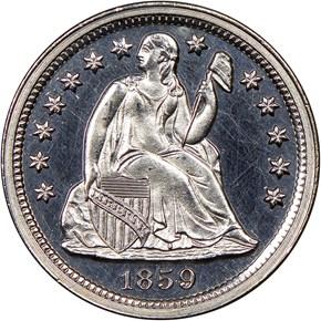 1859 10C PF obverse