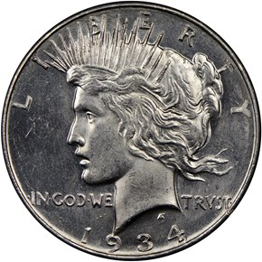 1934 D $1 MS obverse