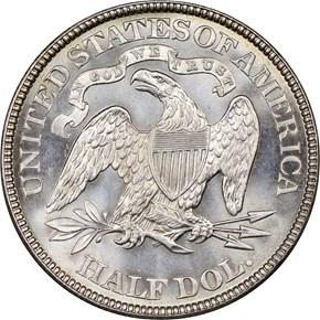 1883 50C MS reverse