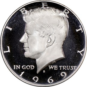1969 S 50C PF obverse