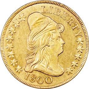 1800 BD-1 $10 MS obverse