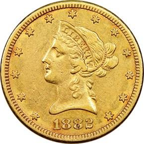 1882 CC $10 MS obverse