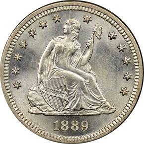 1889 25C MS obverse