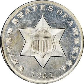 1851 O 3CS SP obverse