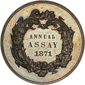 1871 JK-AC-10 U.S. ASSAY COMMISSION AR MS obverse