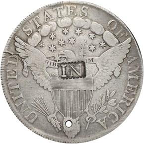 (1808) NEWPORT R-E-RI-11 ON 1799 $1 RI MS reverse