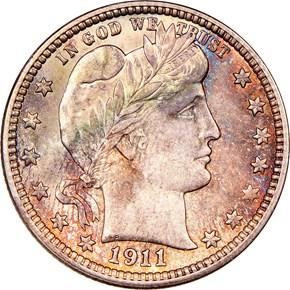 1911 25C MS obverse