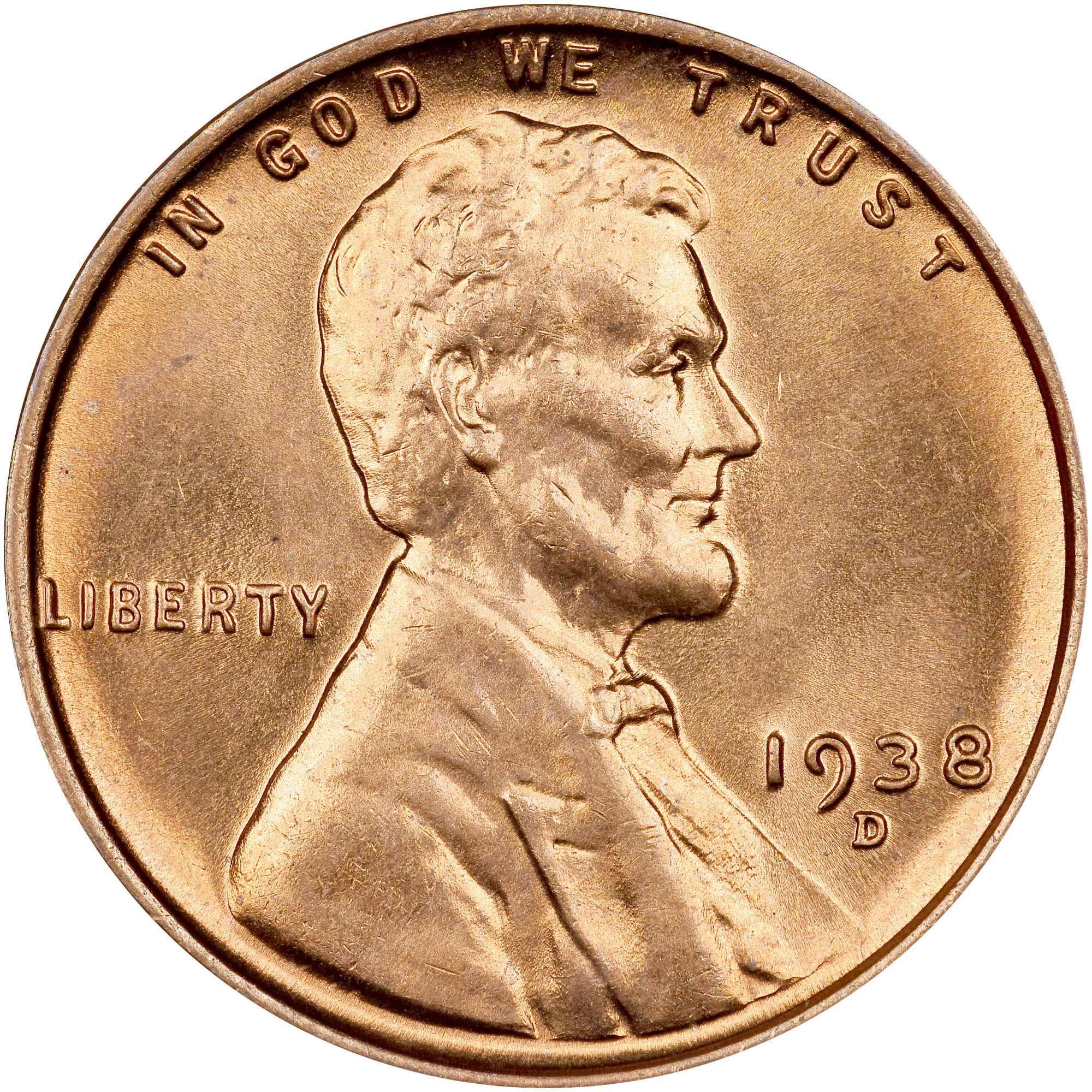 1938-S 1C Lincoln Cent PCGS MS 66 RD