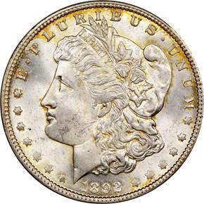 1892 O $1 MS obverse