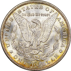 1892 O $1 MS reverse