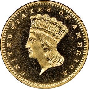 1872 G$1 PF obverse