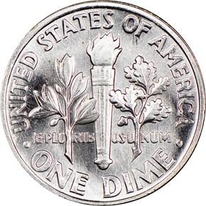 1963 10C MS reverse