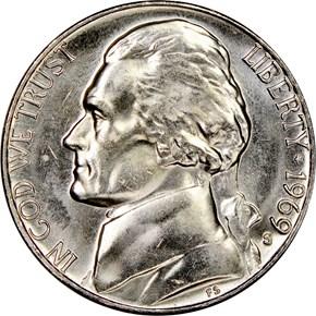 1969 S 5C MS obverse
