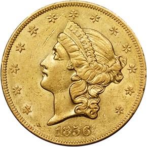 1856 O $20 MS obverse