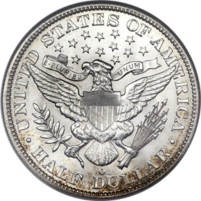 1893 O 50C MS reverse