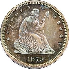 1879 25C PF obverse