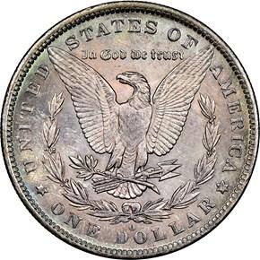 1884 O $1 MS reverse