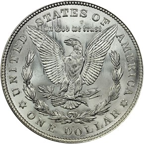 1921 D $1 MS reverse