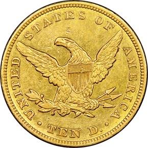 1846 $10 MS reverse