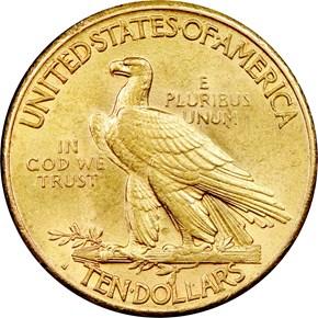 1915 S $10 MS reverse