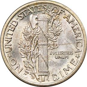 1917 D 10C MS reverse