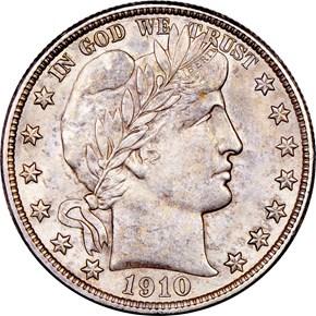 1910 50C MS obverse