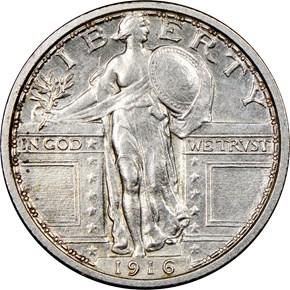 1916 J-1989 25C PF obverse