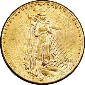 1926 D $20 MS obverse