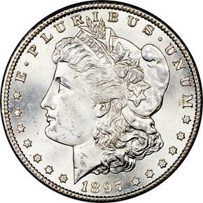 1897 S $1 MS obverse