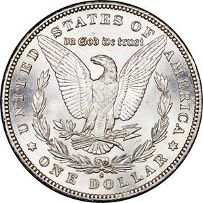 1897 S $1 MS reverse