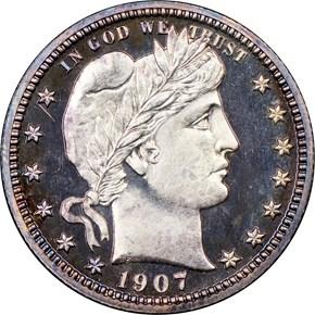 1907 25C PF obverse