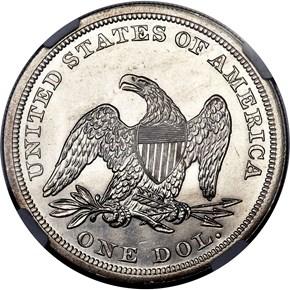 1863 $1 MS reverse