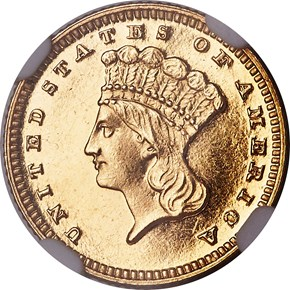 1887 G$1 PF obverse