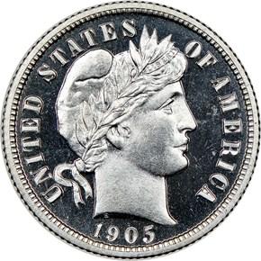 1905 10C PF obverse