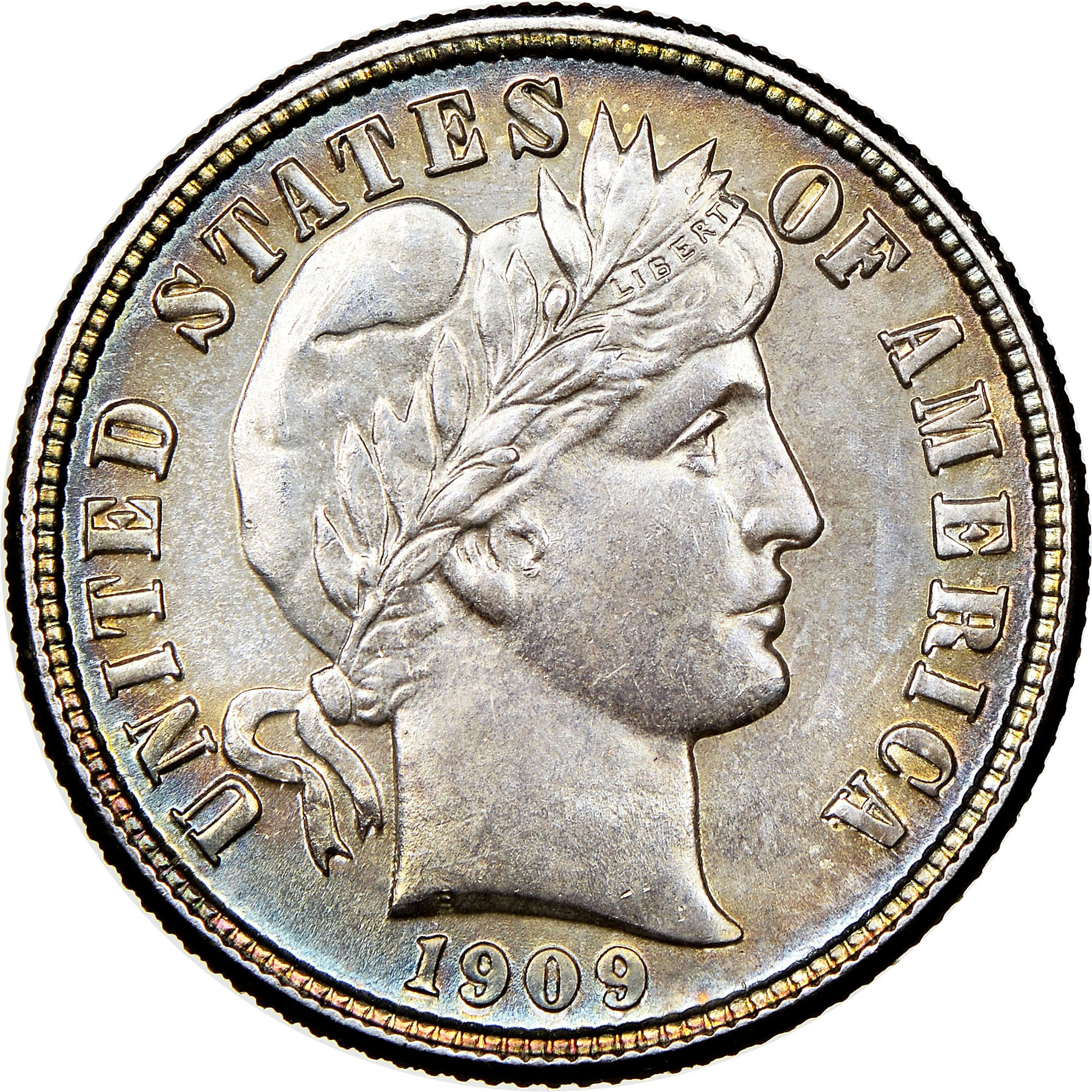1909 Silver Barber Dime GOOD FREE SHIPPING
