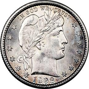 1898 S 25C MS obverse