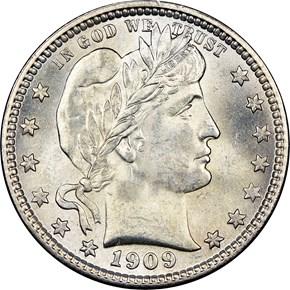 1909 S 25C MS obverse