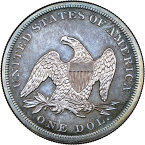 1860 $1 PF reverse